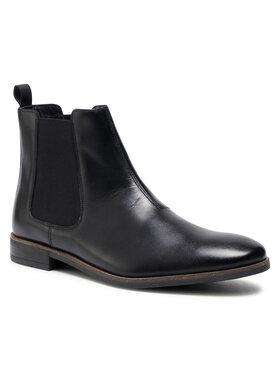 Clarks Clarks Kotníková obuv s elastickým prvkem Stanford Top 261540547 Černá