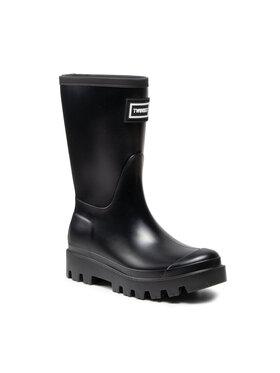 TwinSet TwinSet Cizme de cauciuc Rain Boot 212TCP270 Negru
