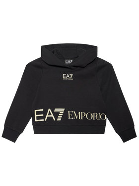 EA7 Emporio Armani EA7 Emporio Armani Majica dugih rukava 3KFM52 FJ5FZ 1200 Crna Regular Fit
