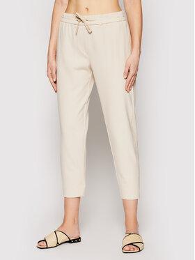 Marella Marella Kalhoty z materiálu Blanc 31310215 Béžová Regular Fit