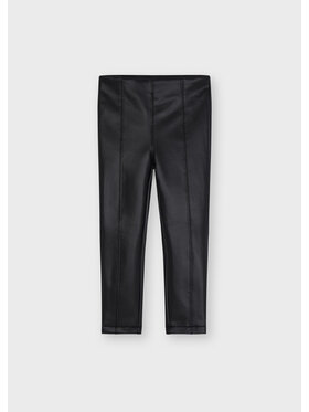 Mayoral Mayoral Pantalon en simili cuir 4736 Noir Slim Fit