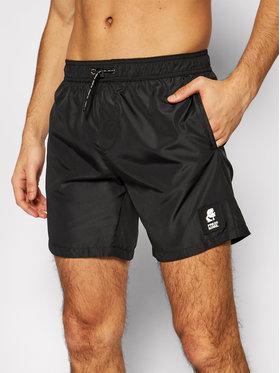 KARL LAGERFELD KARL LAGERFELD Szorty kąpielowe Basic KL21MBM01 Czarny Regular Fit