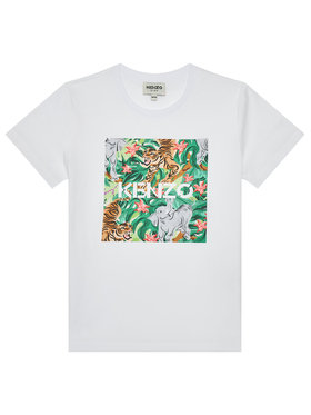Kenzo Kids Kenzo Kids T-Shirt K15087 D Λευκό Regular Fit