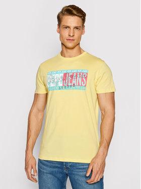 Pepe Jeans Pepe Jeans T-shirt Mark PM507768 Žuta Regular Fit