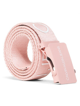Calvin Klein Jeans Calvin Klein Jeans Дамски колан Canvas Logo Belt IU0IU00125 Розов