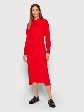 Calvin Klein Calvin Klein Košeľové šaty K20K203225 Červená Regular Fit