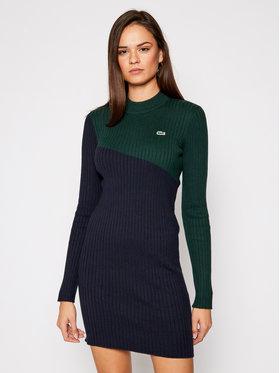 Lacoste Lacoste Sukienka dzianinowa EF5702 Granatowy Slim Fit