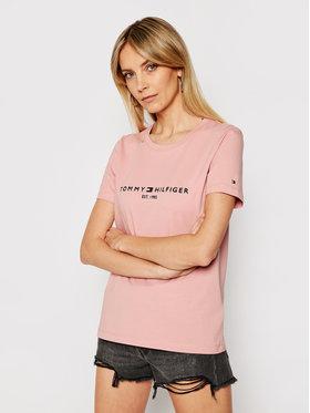 Tommy Hilfiger Tommy Hilfiger T-Shirt Th Ess WW0WW28681 Różowy Regular Fit