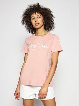 Tommy Hilfiger Tommy Hilfiger T-Shirt Crew Neck Graphic Tee WW0WW28682 Różowy Regular Fit
