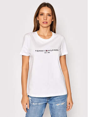 Tommy Hilfiger Tommy Hilfiger T-shirt Heritage C-Nk WW0WW31999 Bianco Regular Fit