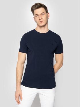 Trussardi Jeans Trussardi Jeans T-Shirt 52T00309 Granatowy Slim Fit