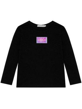 Calvin Klein Jeans Calvin Klein Jeans Bluse Monogram Badge IG0IG00663 Schwarz Slim Fit