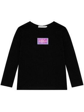 Calvin Klein Jeans Calvin Klein Jeans Halenka Monogram Badge IG0IG00663 Černá Slim Fit