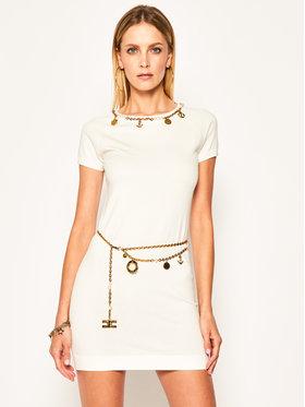 Elisabetta Franchi Elisabetta Franchi Džemper haljina AM-16S-02E2-V359 Bijela Slim Fit