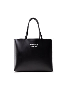 Tommy Jeans Tommy Jeans Geantă Tjw Essential Pu Tote AW0AW10153 Negru