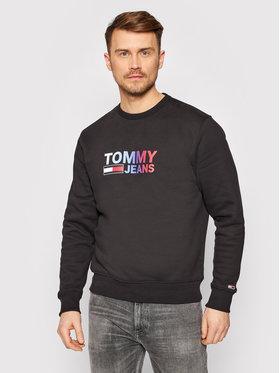 Tommy Jeans Tommy Jeans Sweatshirt Tjm Ombre Corp Logo Crew DM0DM10202 Schwarz Regular Fit
