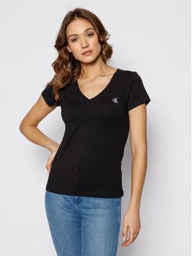 Calvin Klein Jeans Calvin Klein Jeans Marškinėliai Rood J20J213716 Juoda Regular Fit