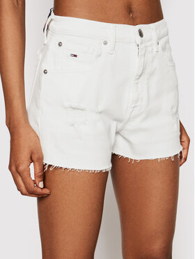 Tommy Jeans Tommy Jeans Džinsiniai šortai DW0DW10079 Balta Regular Fit