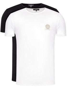 Versace Versace Σετ 2 T-Shirts Girocollo AU10193 Έγχρωμο Regular Fit