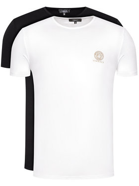 Versace Versace Set di 2 T-shirt Girocollo AU10193 Multicolore Regular Fit
