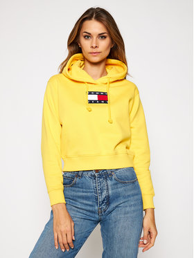 Tommy Jeans Tommy Jeans Felpa Flag DW0DW08975 Giallo Regular Fit
