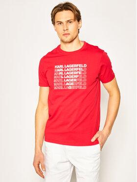 KARL LAGERFELD KARL LAGERFELD T-Shirt Crewneck 755045 501220 Czerwony Regular Fit