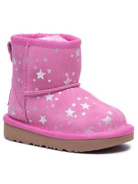 Ugg Ugg Pantofi T Classic Mini II Stars 1115852T Roz