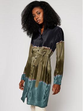 Desigual Desigual Košeľové šaty Toronto 20WWVW30 Zelená Regular Fit