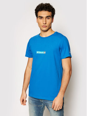 Columbia Columbia T-Shirt Rapid Ridge 1934824 Niebieski Regular Fit