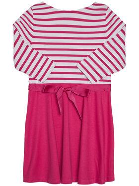 Polo Ralph Lauren Polo Ralph Lauren Každodenní šaty Stripe Solid 313720091001 Růžová Regular Fit
