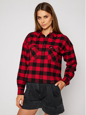 Tommy Jeans Tommy Jeans Marškiniai Gingham Check DW0DW08910 Raudona Relaxed Fit