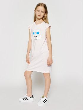 KARL LAGERFELD KARL LAGERFELD Kasdieninė suknelė Z12172 S Rožinė Regular Fit