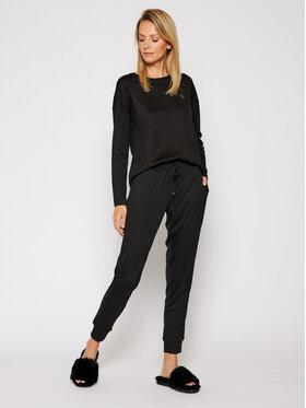 Lauren Ralph Lauren Lauren Ralph Lauren Pyžamo 2 Pc Garment ILN92044 Černá Regular Fit