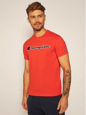 Champion Champion T-Shirt Crewneck Tee 214726 Pomarańczowy Comfort Fit