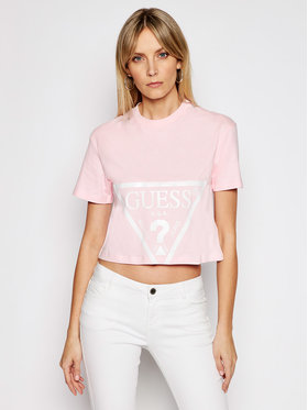 Guess Guess T-shirt O1GA21 K8HM0 Rose Regular Fit