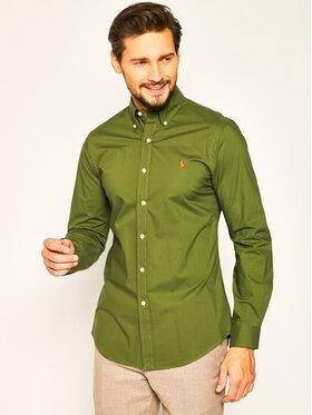 Polo Ralph Lauren Polo Ralph Lauren Koszula Classic 710787320 Zielony Slim Fit