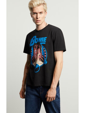 Vistula Vistula T-Shirt David Bowie 2 XA1336 Czarny Regular Fit