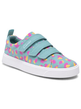 Clarks Clarks Πάνινα παπούτσια City Vibe K 261491206 Πράσινο
