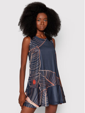 Waikane Vibe Waikane Vibe Літня сукня Leaves Cиній Regular Fit