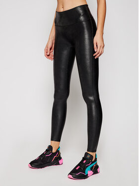 SPANX SPANX Leggings Faux Leather 2437 Crna Slim Fit
