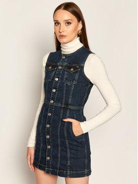 Pepe Jeans Pepe Jeans Džinsinė suknelė Linea PL952717 Tamsiai mėlyna Regular Fit