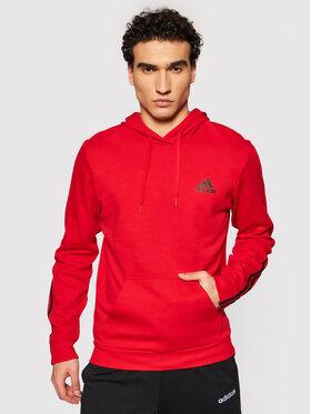 adidas adidas Суитшърт Essentials Double Knit GP8599 Червен Regular Fit