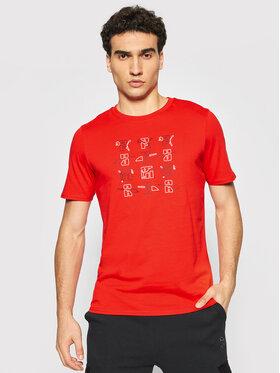 Puma Puma T-Shirt Elevate Graphic 531074 Czerwony Regular Fit