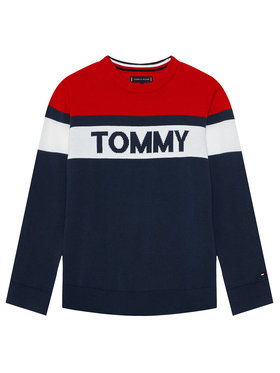 Tommy Hilfiger Tommy Hilfiger Pulover Colorblock KB0KB06510 M Bleumarin Regular Fit