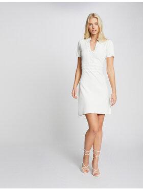 Morgan Morgan Úpletové šaty 211-RMSIGN Bílá Regular Fit