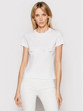 Elisabetta Franchi Elisabetta Franchi T-shirt MA-202-11E2-V120 Bijela Regular Fit