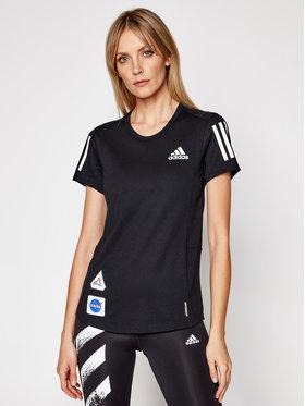adidas adidas Marškinėliai Space Tee W GP5828 Juoda Regular Fit