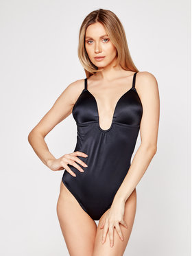 SPANX SPANX Body Syf Plunge Low Back Thong 10206R Fekete