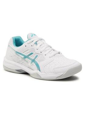 Asics Asics Обувки Gel- Dedicate 6 Indoor 1042A074 Бял