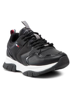 Tommy Hilfiger Tommy Hilfiger Sneakersy Low Cut Lace-Up Sneaker T3A4-31177-0518999 M Czarny